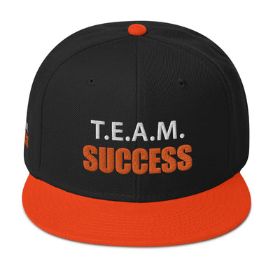 T.E.A.M. SUCCESS [ORANGE] Snapback Hat [Embroidered]