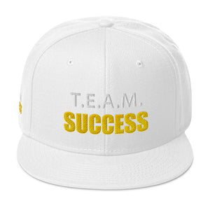 T.E.A.M. SUCCESS [GOLD] Snapback Hat [Embroidered]