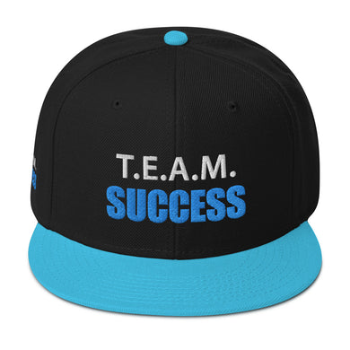 T.E.A.M. SUCCESS [AQUA] Snapback Hat [Embroidered]