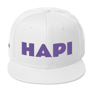 HAPI [PURPLE] Snapback Hat [Embroidered]