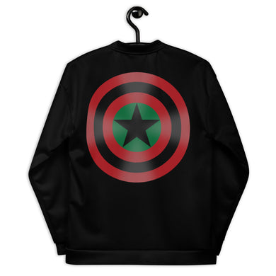 BLACK STAR SHIELD [GLOW] Unisex Bomber Jacket