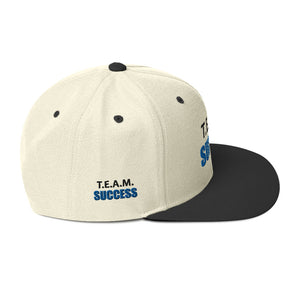 T.E.A.M. SUCCESS [BLACK] Snapback Hat [Embroidered]