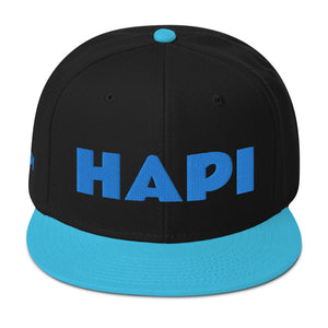 HAPI [AQUA] Snapback Hat [Embroidered]