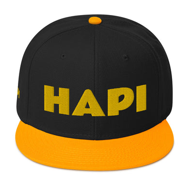 HAPI [GOLD] Snapback Hat [Embroidered]