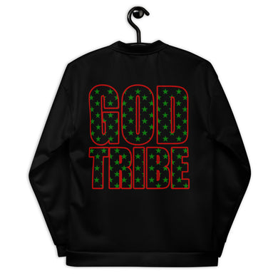 GOD TRIBE - BLACK STAR SHIELD Unisex Bomber Jacket