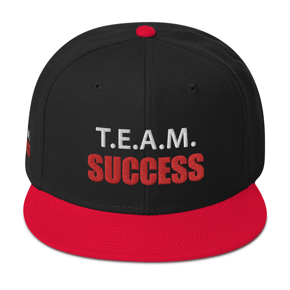 T.E.A.M. SUCCESS  [RED] Snapback Hat [Embroidered]