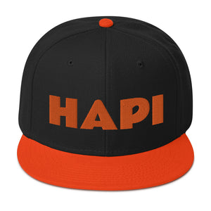 HAPI [ORANGE] Snapback Hat [Embroidered]