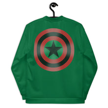 BLACK STAR SHIELD (GLOW) Unisex Bomber Jacket [GREEN]