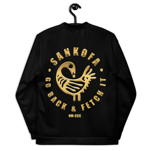 SANKOFA - GO BACK & FETCH IT Unisex Bomber Jacket