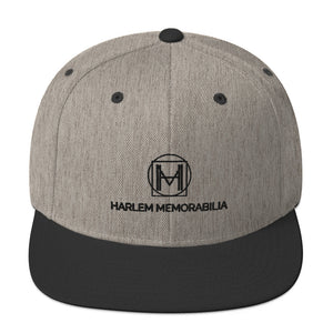 HARLEM MEMORABILIA [BLACK] Snapback Hat [Embroidered]