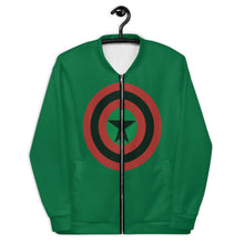 BLACK STAR SHIELD Unisex Bomber Jacket [GREEN]
