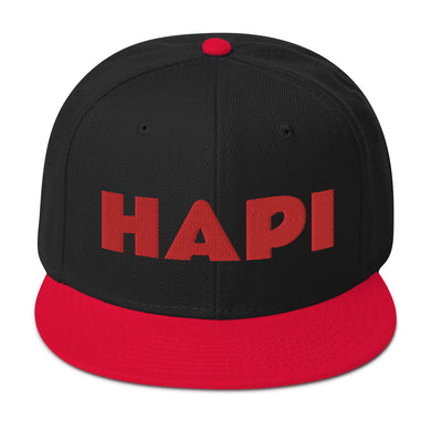HAPI [RED] Snapback Hat [Embroidered]