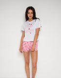 Hey Peachy More Amore Short Frill Pyjamas