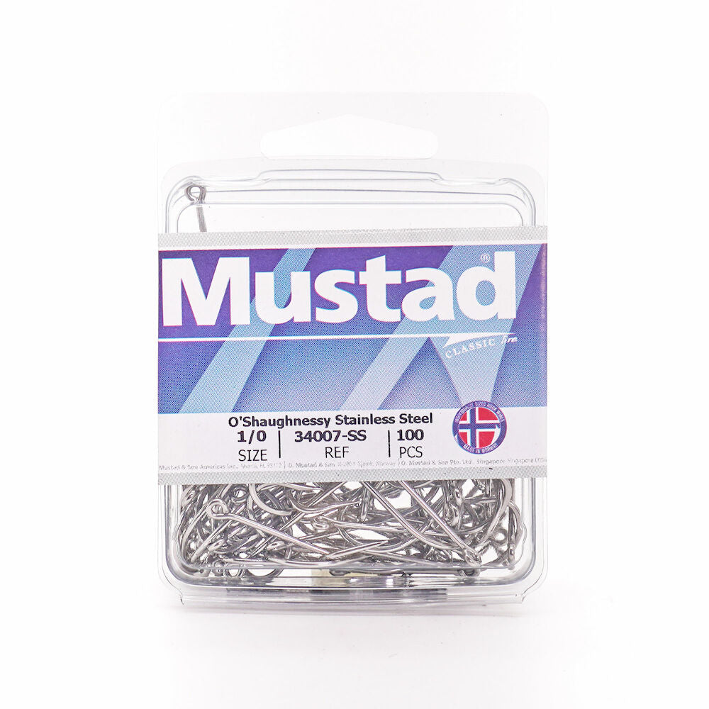 MUSTAD 34007 STAINLESS STEEL 8//0 HOOK QTY 100