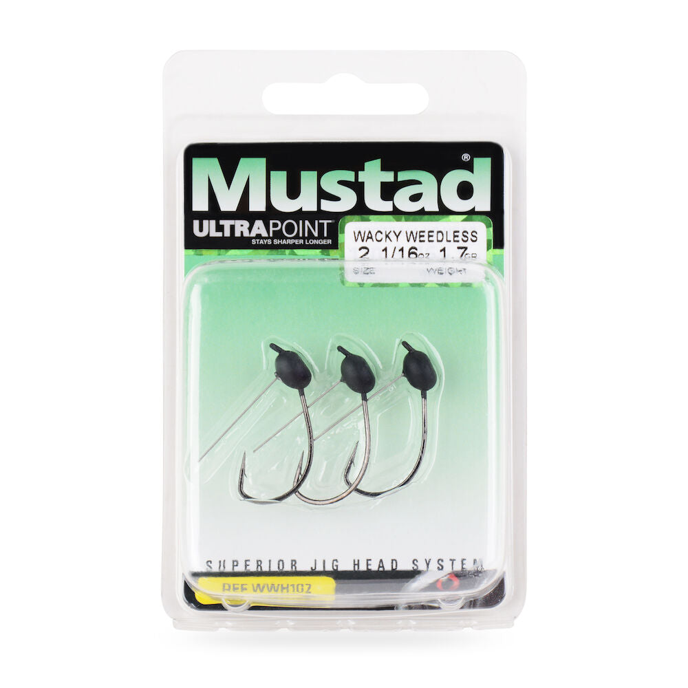 10Pk of Wacky Rig Jighead Weedless Powder Painted Mustad Hook Choose Size /&Color