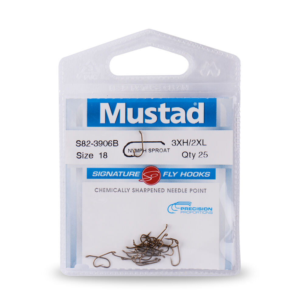1 Doz Scuds Nymph Flies Mustad Signature Hooks Tan