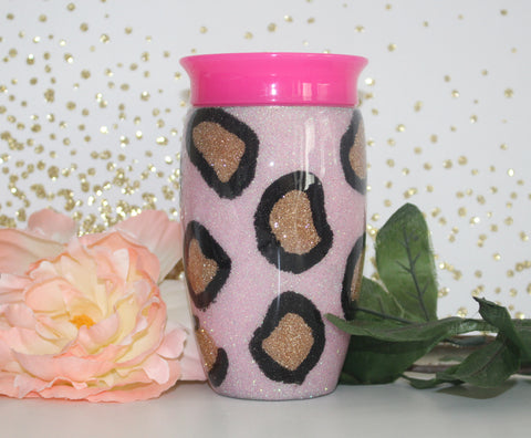 Lady Bug Kids glitter tumbler