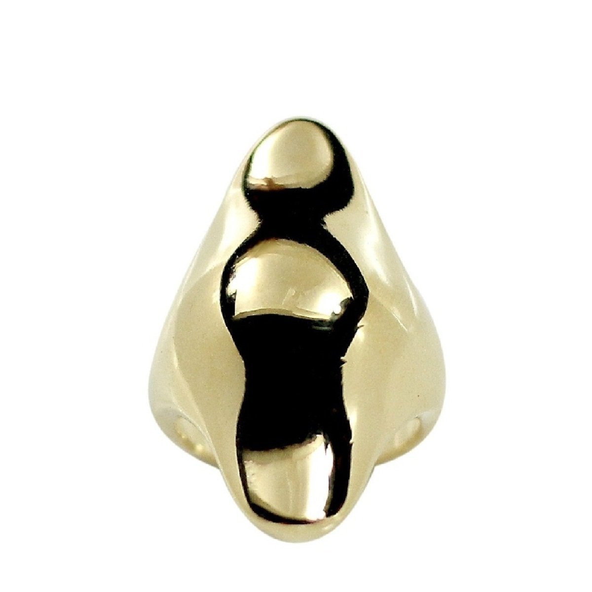 Mini Armor Shield Inspired Gold Tone Knuckle Ring