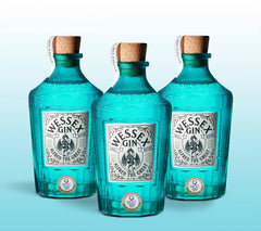 3 Alfred the Great Gin 70cl Bottles