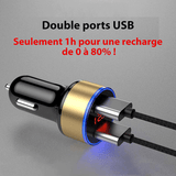 Double chargeur USB Voiture - Ultra rapide