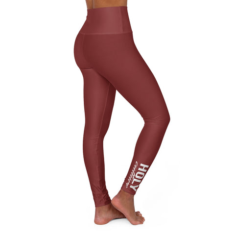 High Waisted Holy Culture Leggings Color Guava