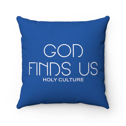 Holy Culture Polyester Square Ultimate Blue Pillow