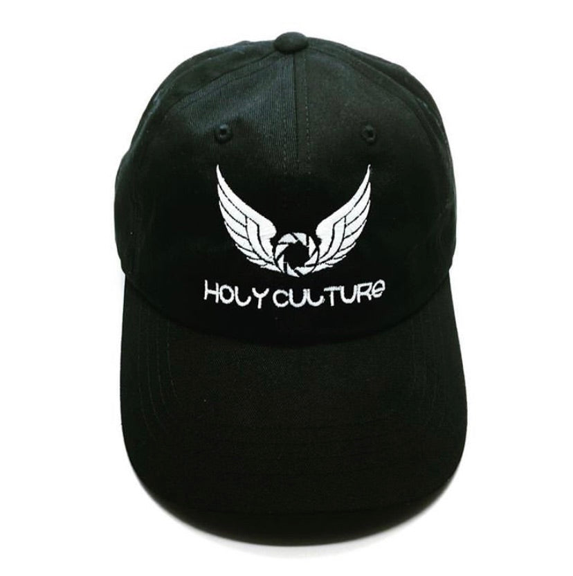 HC Dad Hat Black With White Logo