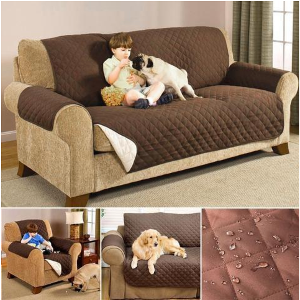 Waterproof Quilted Sofa Couch Covers Cloak Furniture Protector for Armchair Loveseat Sofa Chair Slipcovers for Dogs Pet Non-slip - Slingkee-Wholesale