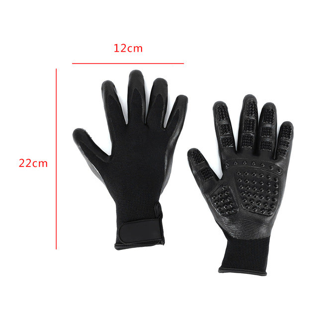 Premium Pet De-Shedding Gloves for Cats, Dogs & Horses (One Pair) - Slingkee-Wholesale