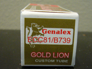 Genalex Gold Lion12AT7/ECC81/ BT739 Gold Pins