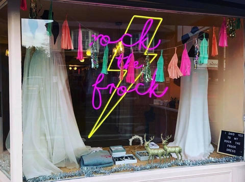 Shop window | bespoke props | Retail display | Rock the Day Essex