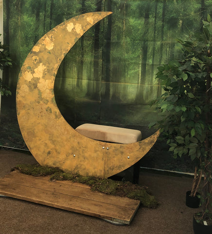 Moon backdrop | Prop hire Essex | Events styling London
