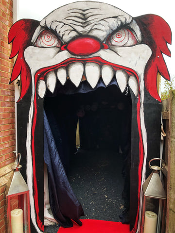 Creepy Clown | Halloween party props | Bespoke props by Rock the Day Essex | Party styling London