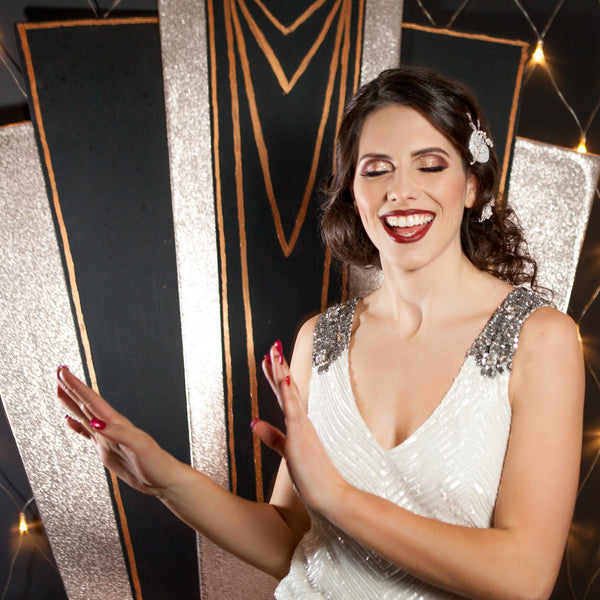 Art Deco backdrop for the themed wedding | Bespoke props | Rock the Day Essex