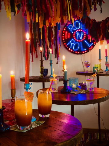 Bespoke party props   Neon party hire   Event styling by Rock the Day Essex   Party hire services
