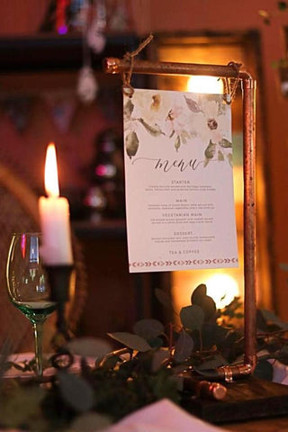 Rock the Day Styling | Bespoke Prop Hire | Table Menu