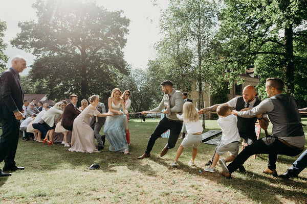 Tag of War Wedding Games | Entertaining your guests | Lawn games hire by Rock the Day Essex