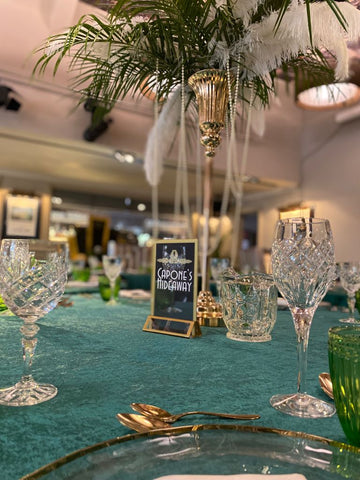 Great Gatsby themed party props for hire, party props, party prop hire
