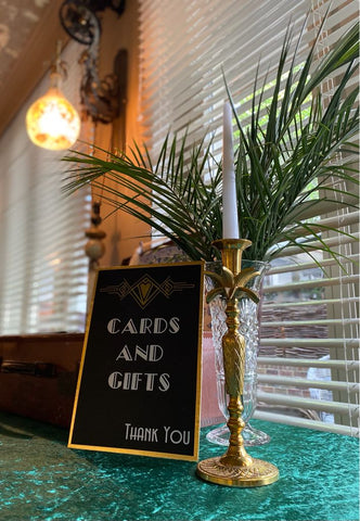 Great Gatsby party, bespoke signage, party props