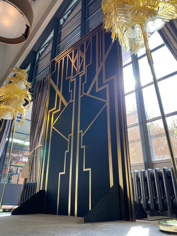 Bespoke wedding backdrop, Great Gatsby themed party props for hire