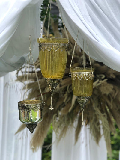 Hanging Moroccan style lanterns for hire in Essex, London, Suffolk. Photoshoot props, event/wedding decoration