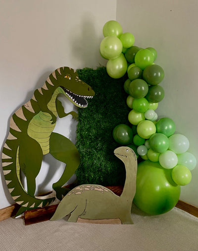 Dino kids mini party balloon set up | party package  for hire | Event styling  | Rock the Day Essex