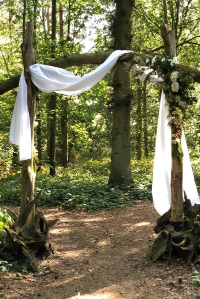 White drapes for hire by Rock the Day Essex | wedding hire | prop hire | venue decor | event styling