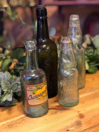 Vintage bottles - props for hire in Essex