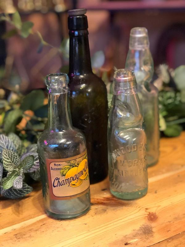Vintage lemonade bottles
