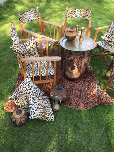Safari style director chairs for hire by Rock the Day in Essex | party props | wedding hire Essex | prop and decor hire