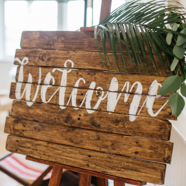 Welcome Wooden Board