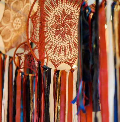 Colorful, handmade dreamcatchers-bohemian style party decor. Perfect for photoshoot, branding shoots or retail display. For hire in Essex, Hertfordshire, London