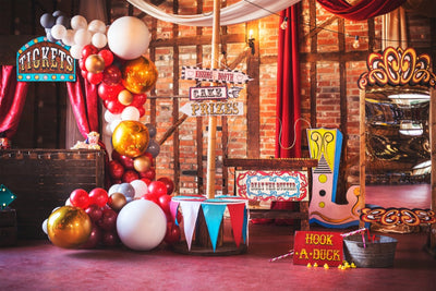 Vintage circus themed party props hire in Essex