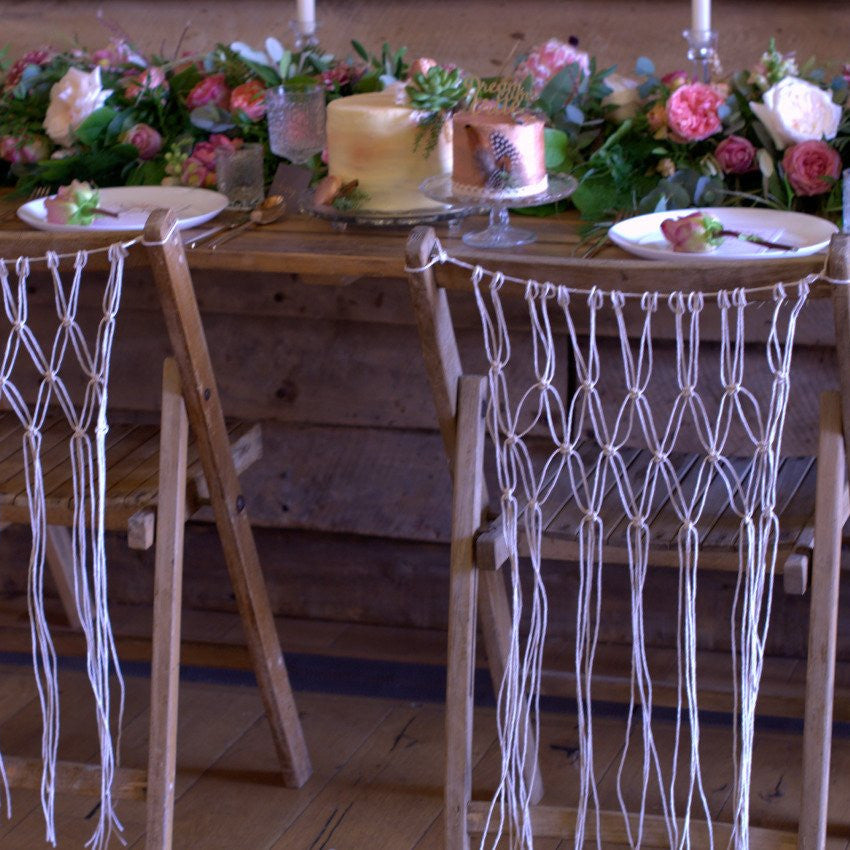 Boho Macrame Chair Covers | Rock the Day Styling